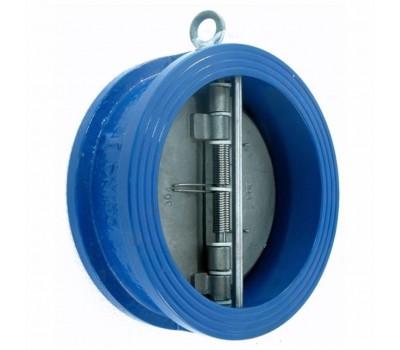Клапан обратный межфланцевый двухлепестковый подпружиненый T.I.S (ДУ 50 - 400)