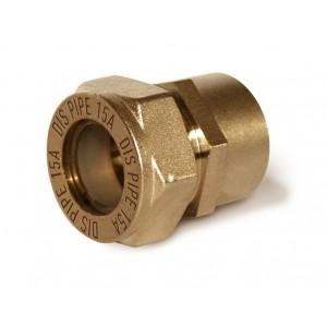 Муфта труба-внутренняя резьба латунная DISPIPE BIC15*3/4 (F)