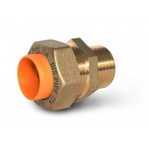 Муфта труба-наружная резьба для газа DISPIPE GBC15*1/2