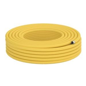 Труба гофрированная для газа DISPIPE 25HFPY, 25 мм. отожженная в желтой оболочке